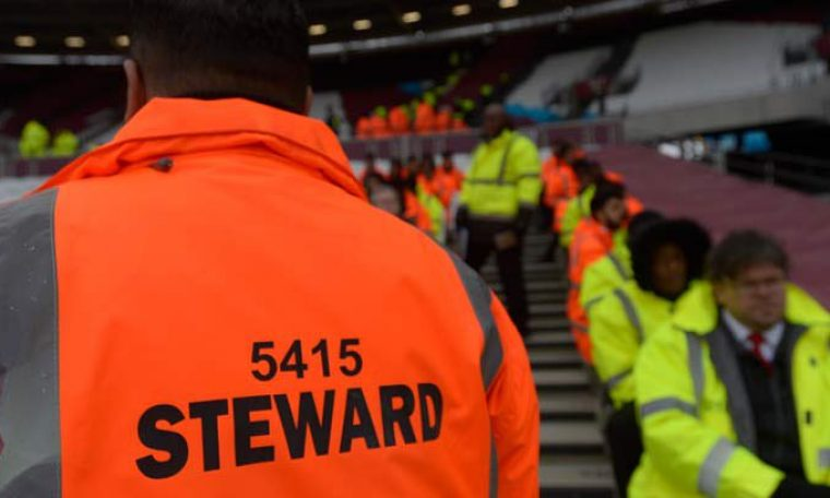 Stewarding at West Ham