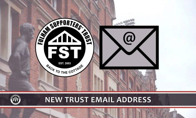 New Trust email address