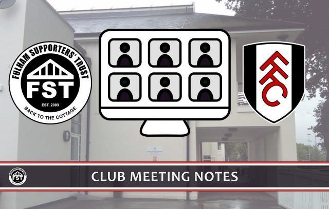 Notes from May meeting with FFC
