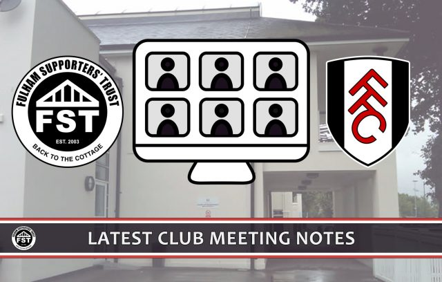 Notes from September meeting with FFC